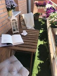 balcón con flores. Ideas balcones pequeños