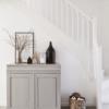 mueble restaurado con pintura gris a la tiza