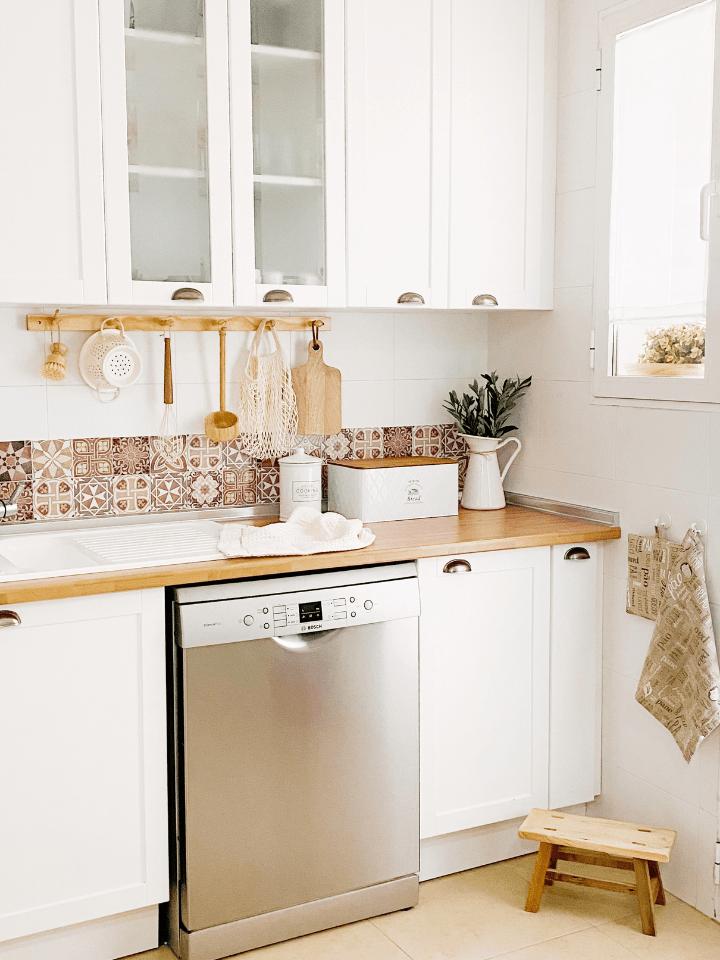 ideas para renovar la cocina sin obras: antes y después