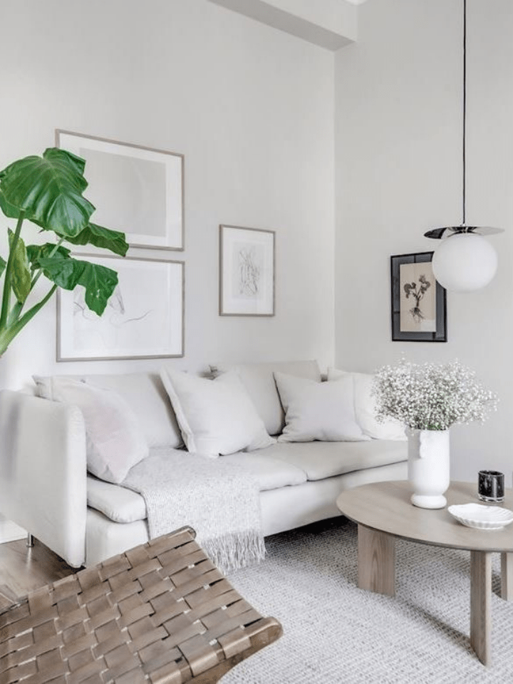 salón blanco: especial pisos pequeños