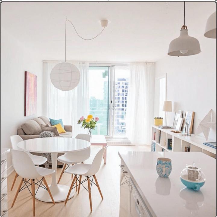 apartamentos pequeños muy luminosos