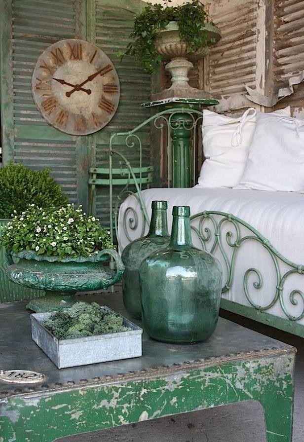 decoración vintage para terraza low cost