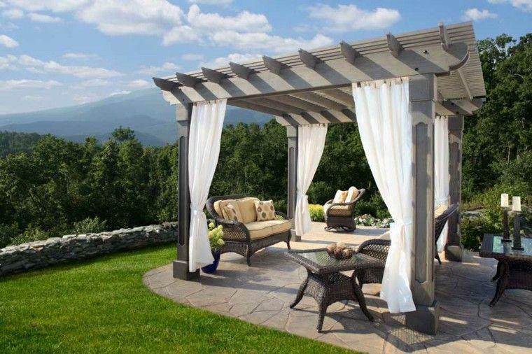 cortinas para pergolas de madera