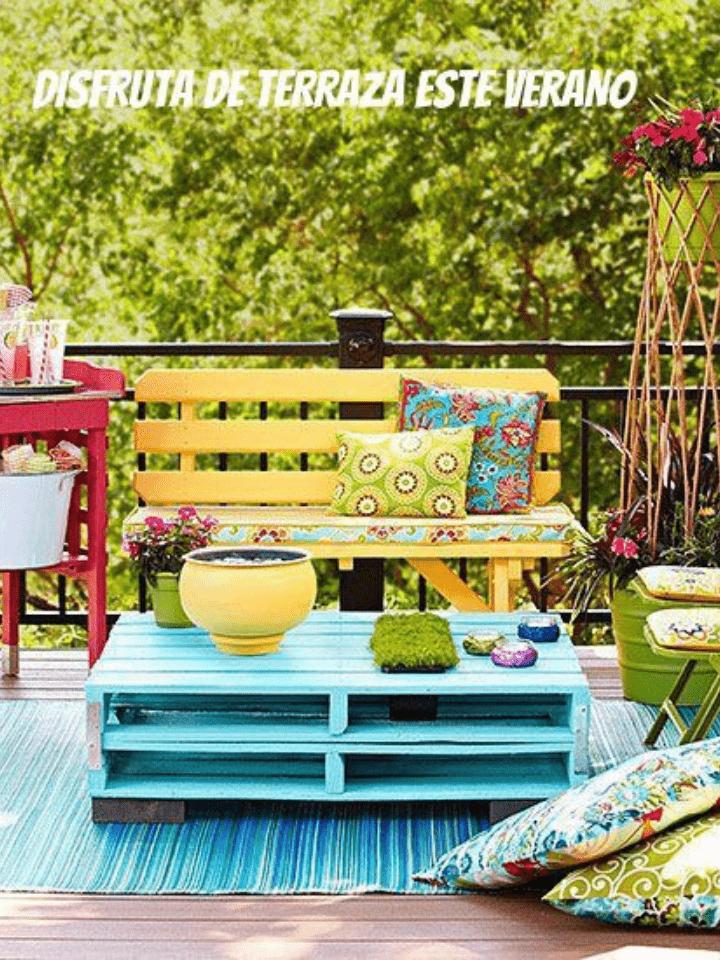 Ideas low cost para decorar la terraza