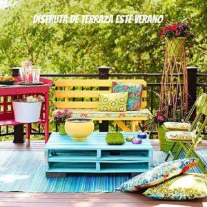 Palets de colores par terrazas low cost
