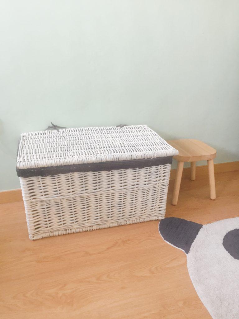 cestas de mimbre recicladas