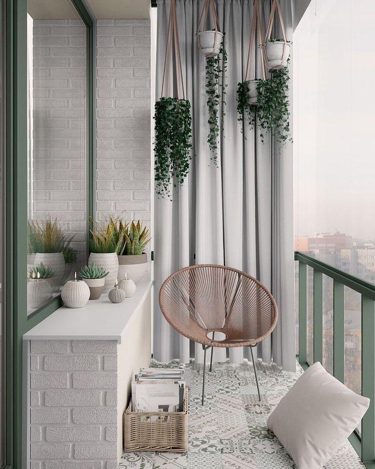 maceteros colgantes, para decorar balcones pequeños