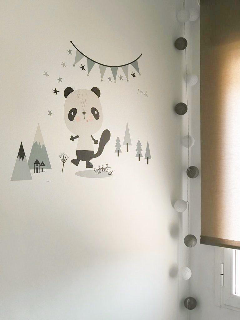 vinilo decorativo infantil de oso panda