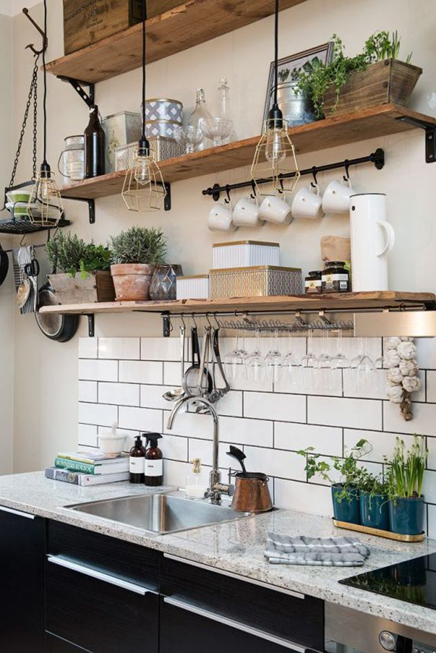 baldas de madera para la cocina