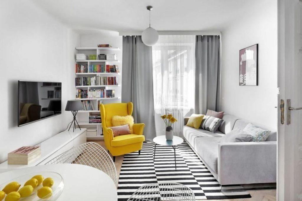 Decoración de salón. Ideas para pisos pequeños