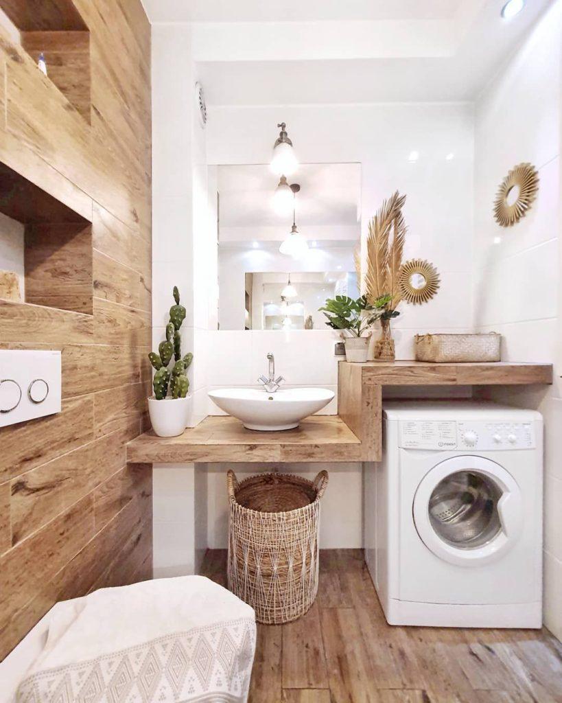 Baño y lavadero. Aprovechar el espacio. Soluciones para minipisos