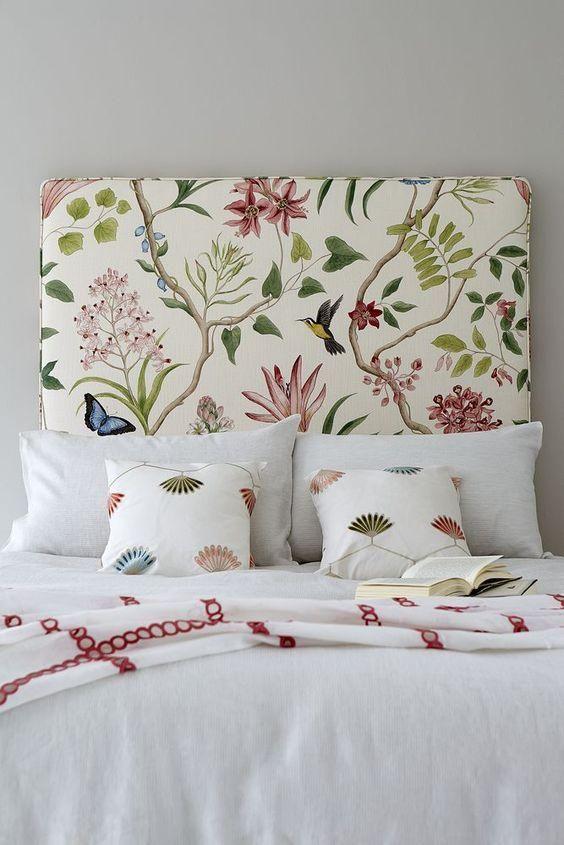 Textiles florales para la habitación