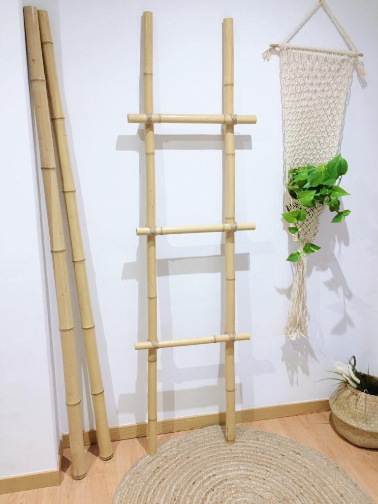 Escalera de bambú terminada