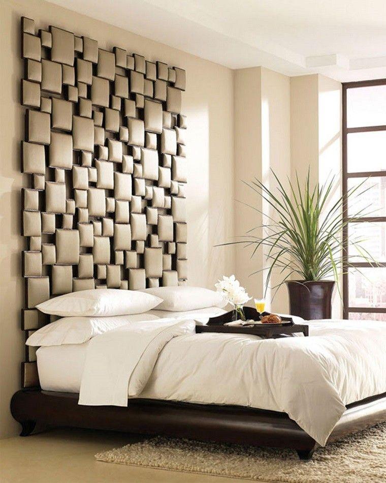 Original cabecero de cama acolchado para decorar el dormitorio