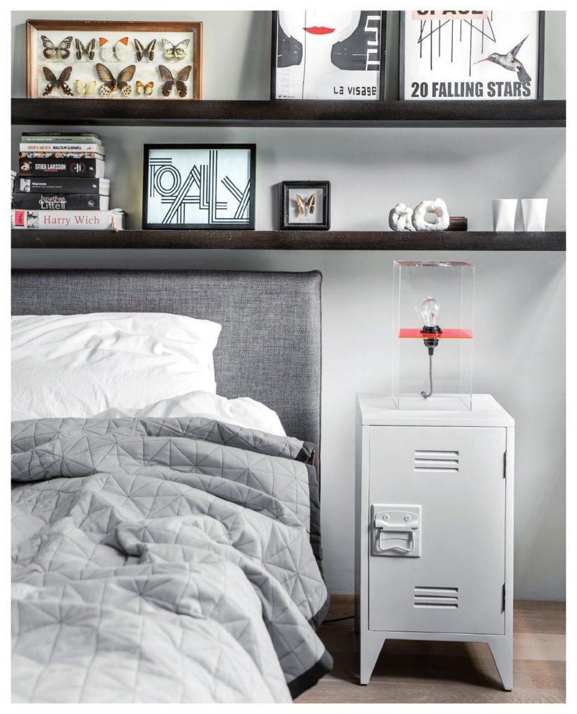 mesillas metálicas para decorar dormitorios