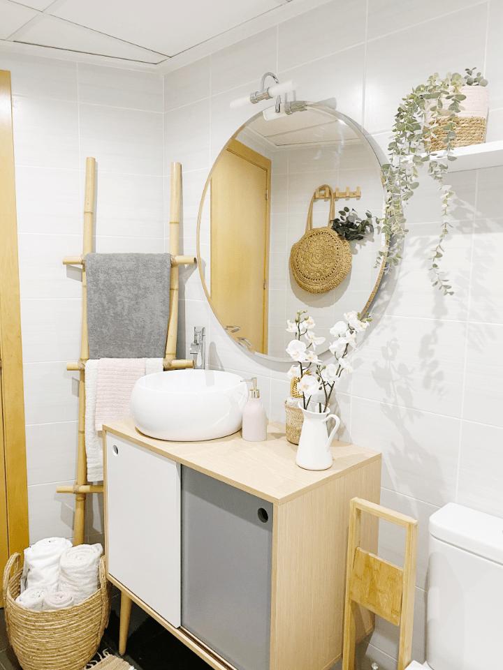 Como hacer una escalera de bambú y crear un fantástico toallero