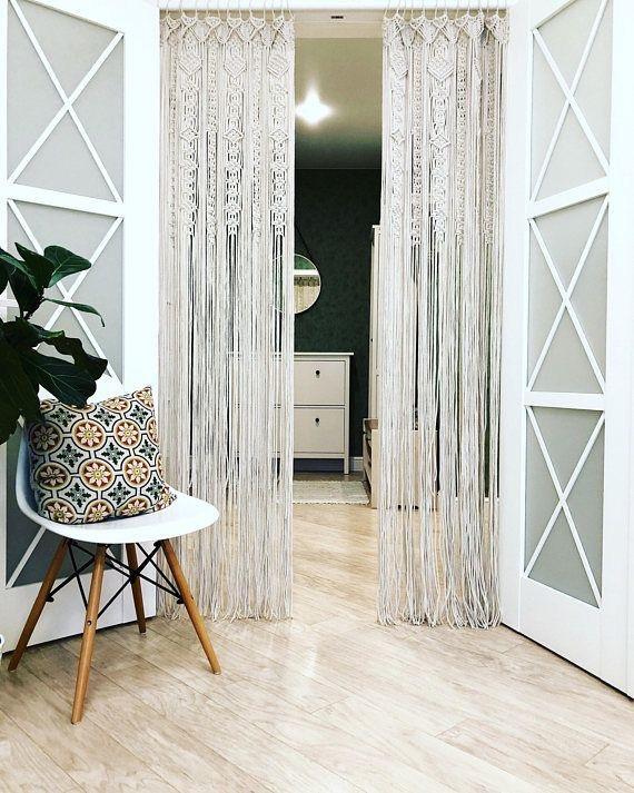 cortinas para separar ambientes de macramé