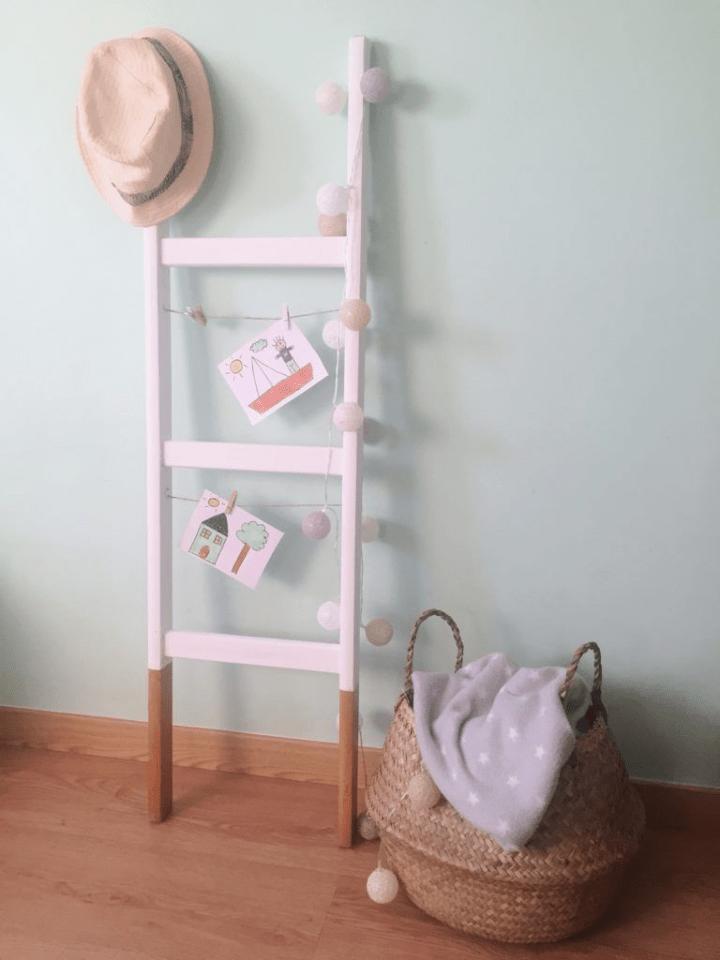 Diy: Cómo decorar con una vieja escalera reciclada