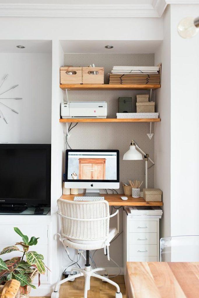 Pequeños espacios para crear la oficina en casa.