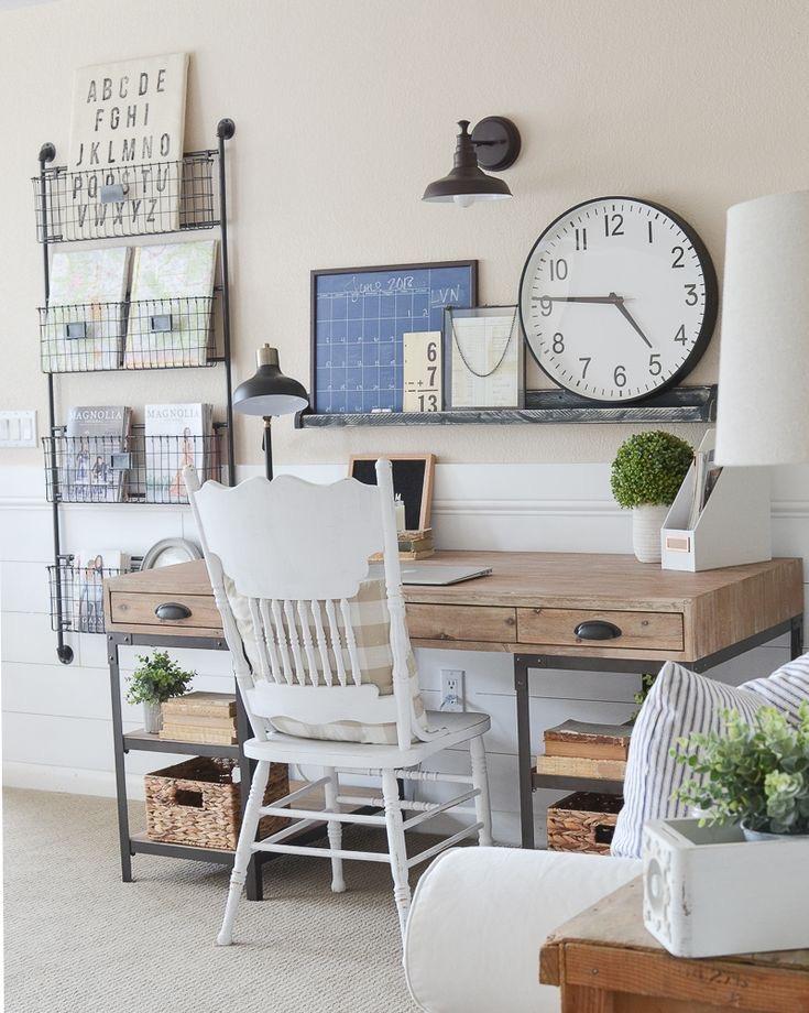Ideas para montar tu oficina en casa. Estilo rústico