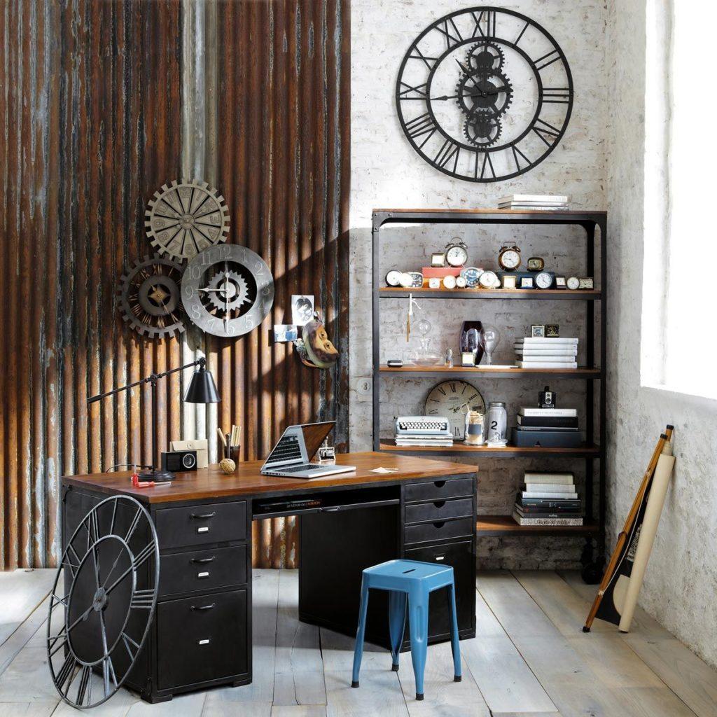 oficinas en casa de estilo industrial