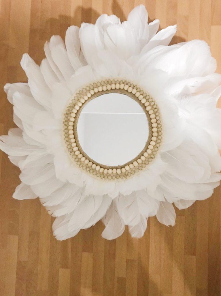 Handmade: Como hacer un espejo de plumas