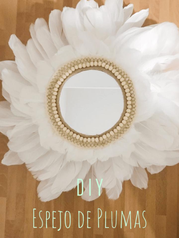 Paso a paso: cómo hacer un espejo con plumas muy original!