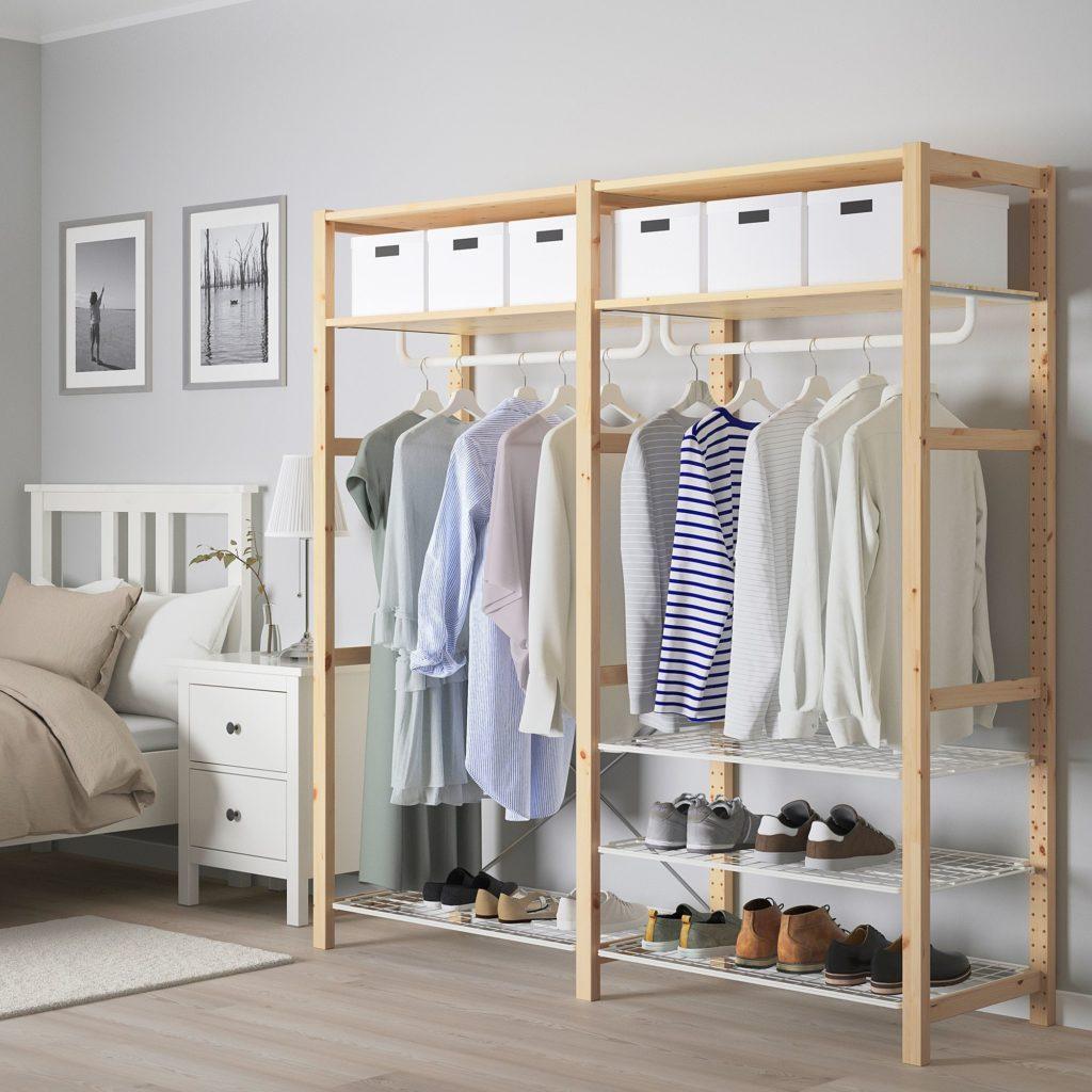 vestidor abierto de madera