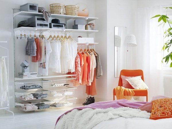 Vestidor modular para organizar ropa y zapatos