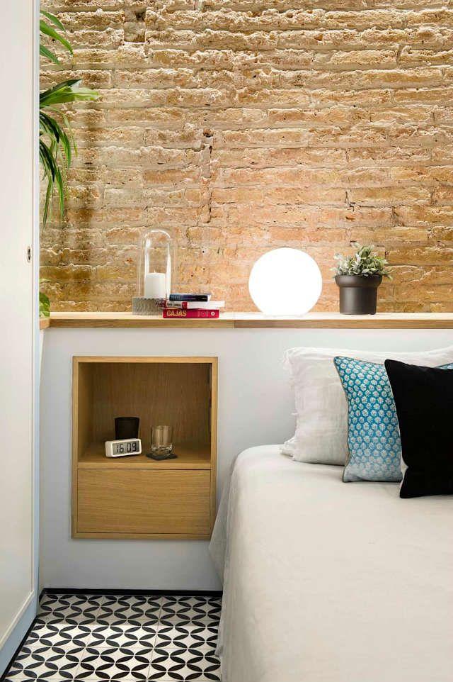 Paredes de piedra para decorar el dormitorio