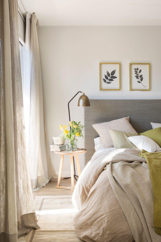 paredes en tonos neutros para crear dormitorios acogedores