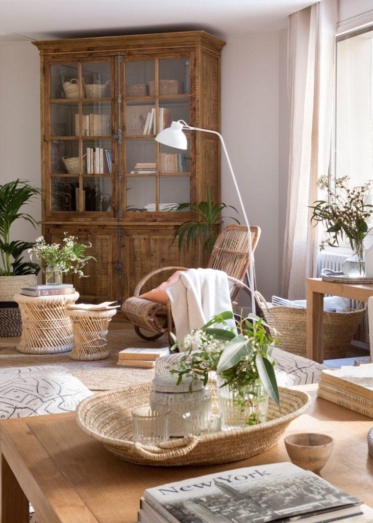 Muebles en fibras vegetales para decorar nuestro hogar