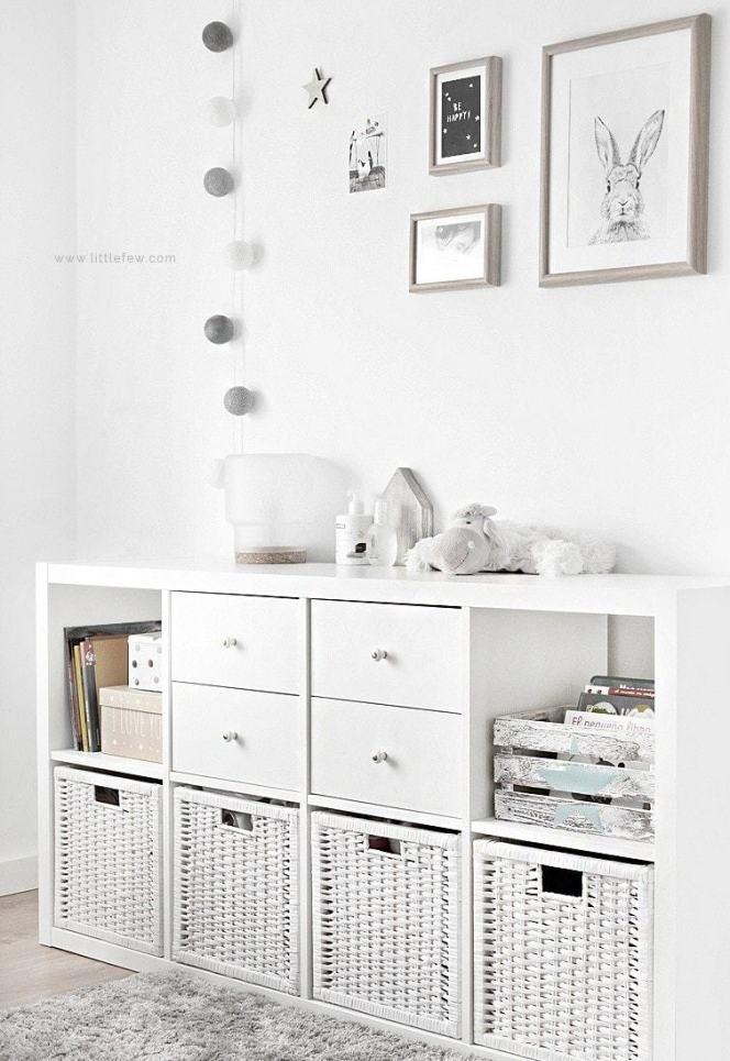Decoración con cajas de mimbre para dormitorios infantiles