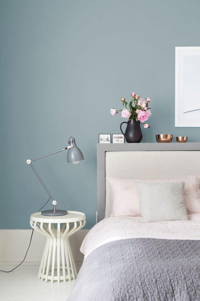gama de azules para pintar el dormitorio