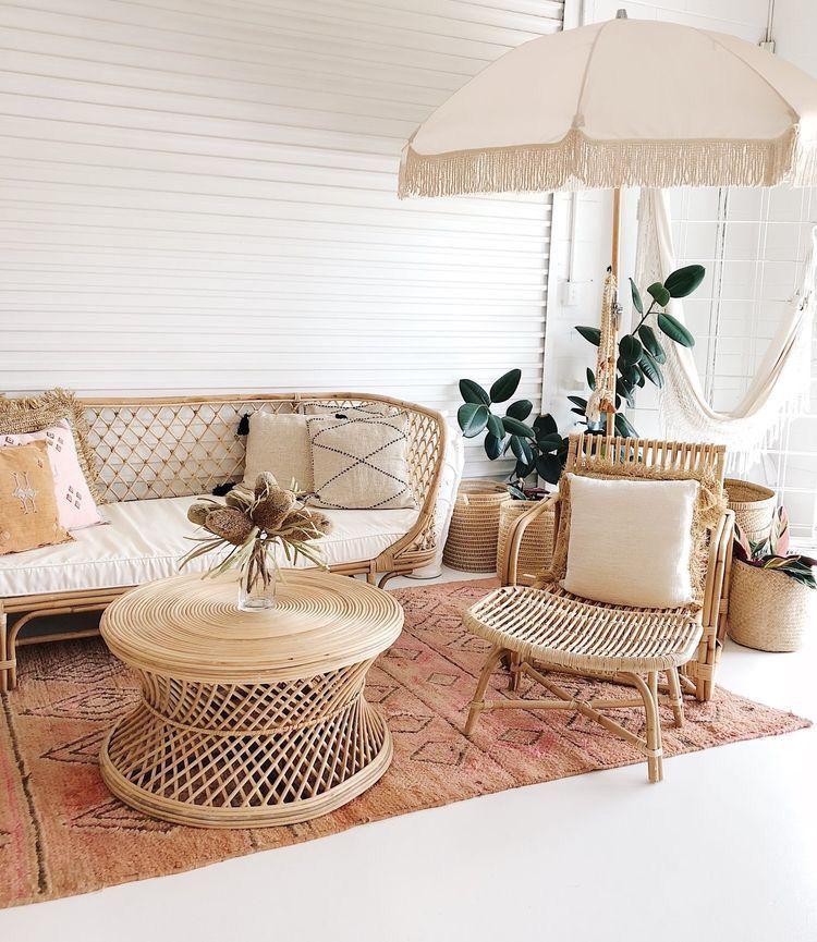 Muebles de exterior en fibras naturales