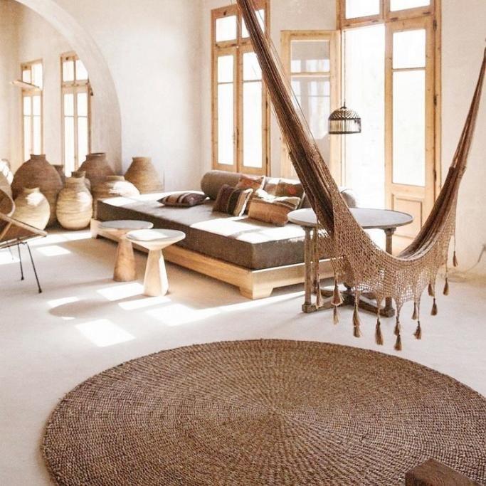 Decoración con fibras naturales para el hogar. Alfombras
