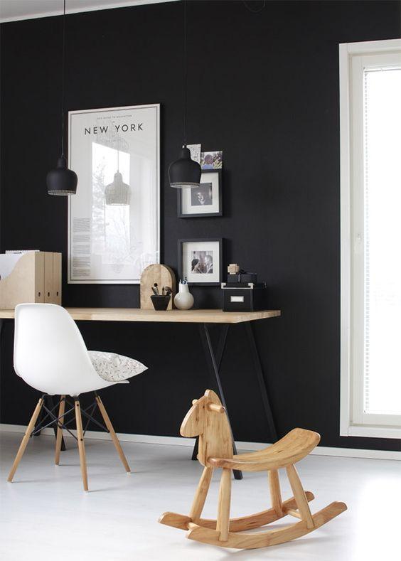 paredes sofisticadas en blanco y negro