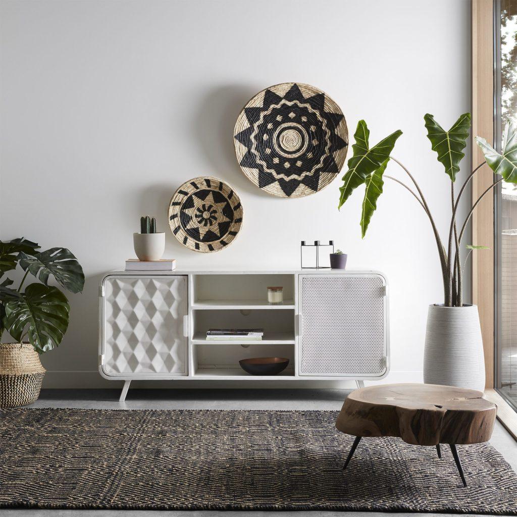 Decoración con fibras naturales para las paredes