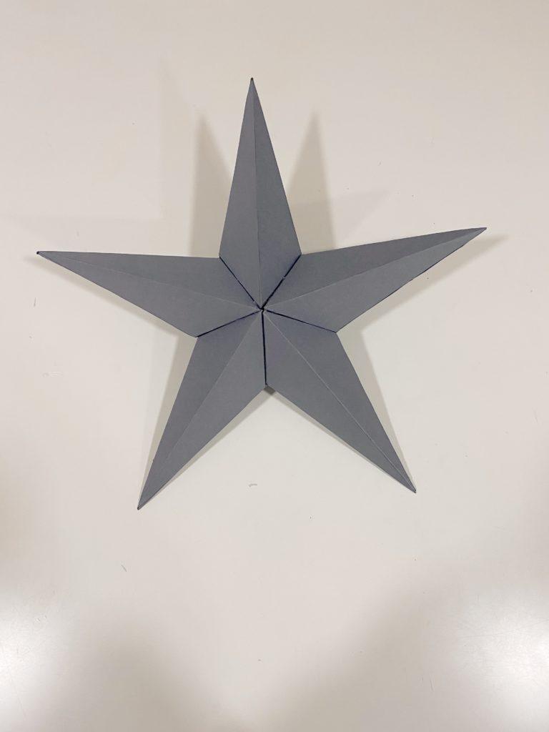 Estrellas en 3D para decorar tu casa en Navidad