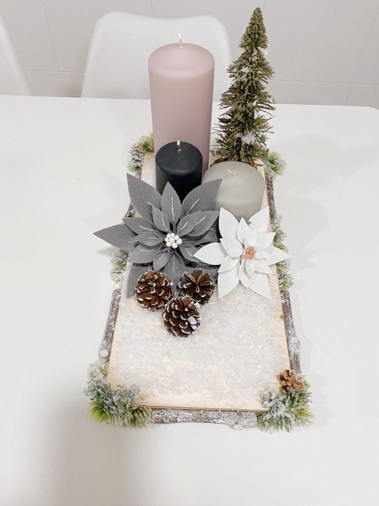 Centro de mesa para decorar tu mesa en Navidad