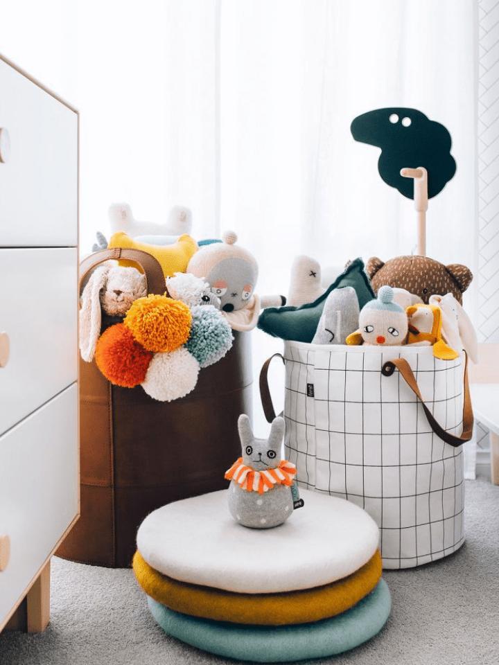 Las mejores ideas para organizar los juguetes de los niños.