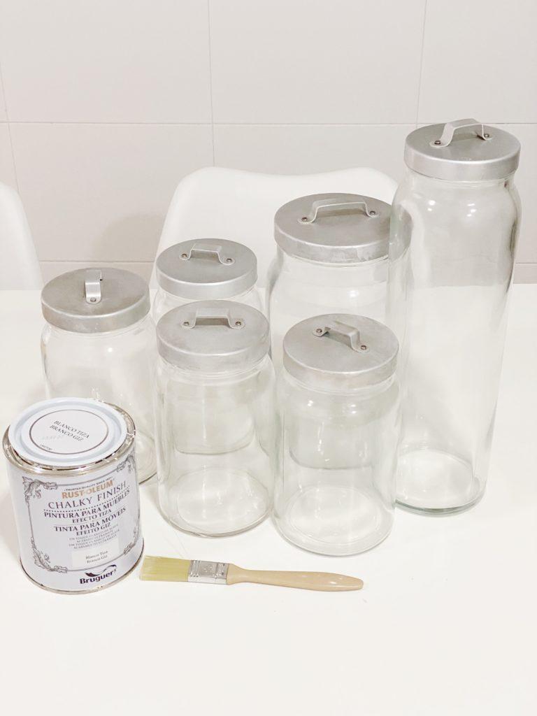 Tarros de cristal para pasta y legumbres