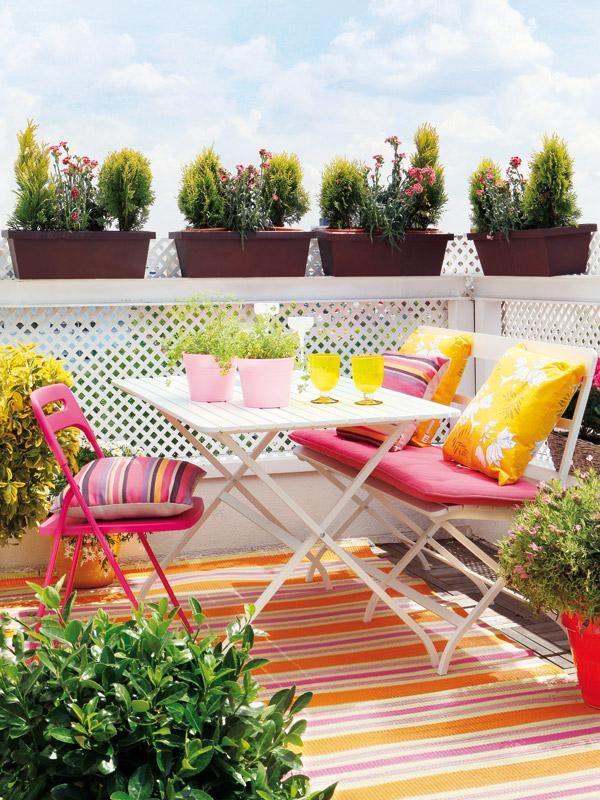 Terrazas coloridas. Como poner a punto la terraza