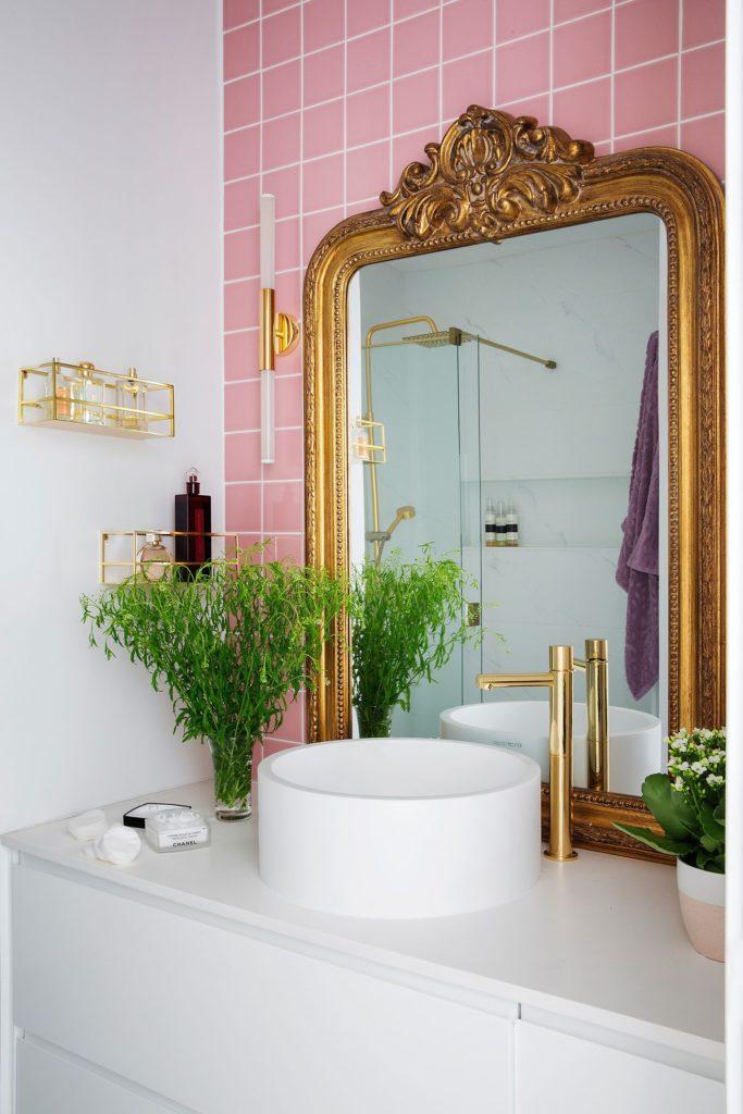 Espejo rococo dorado