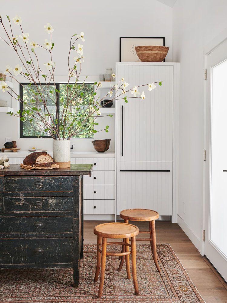 muebles antiguos como isla de cocina