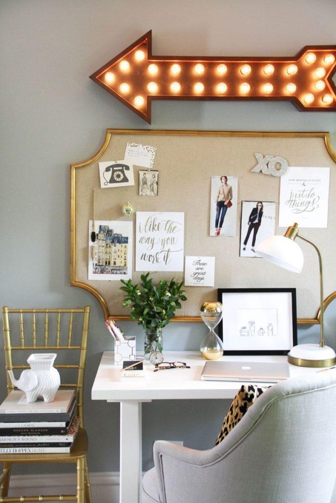 Diy marcos antiguos para decorar el escritorio