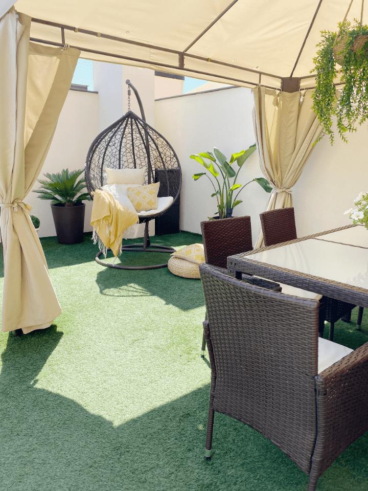 Como renovar la terraza. Antes y después