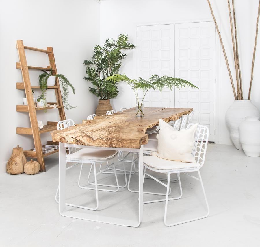 Mesas de madera sin tratar para el comedor