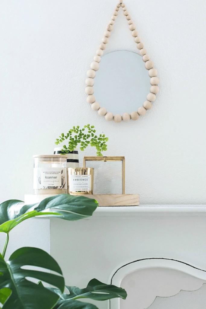 Diy: espejos con bolas de madera