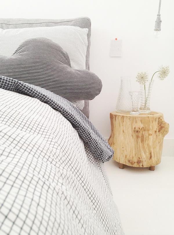 Mesas tronco: decoración raw
